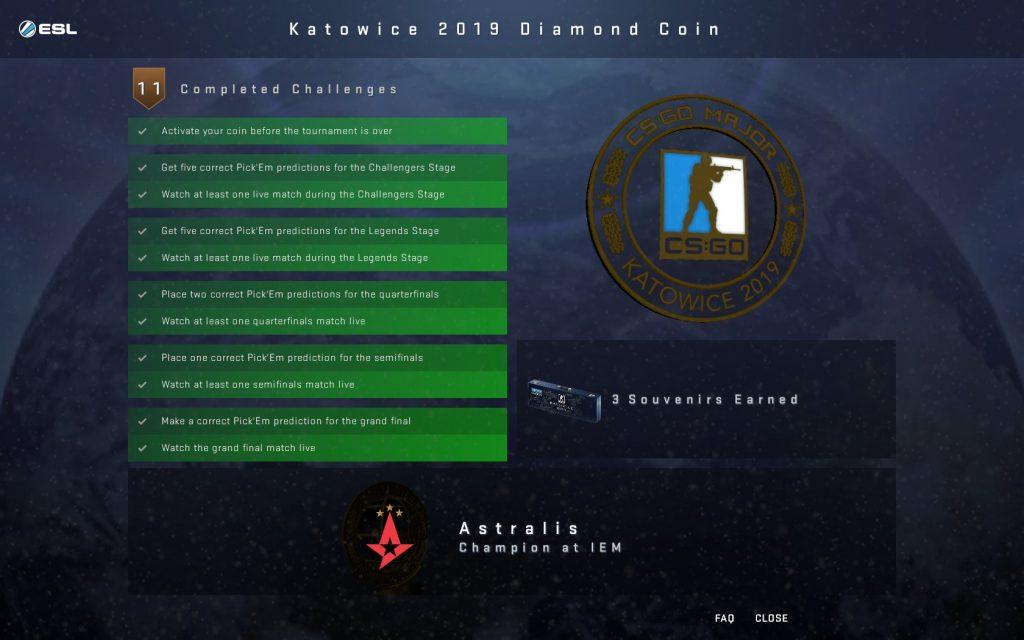 csgo бриллиантовая медаль
