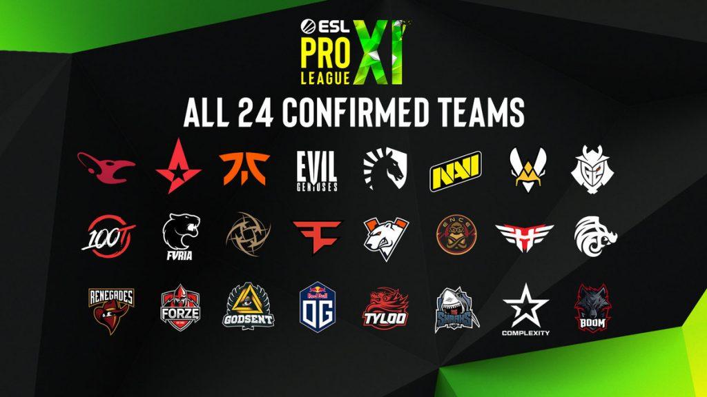 esl pro league команды