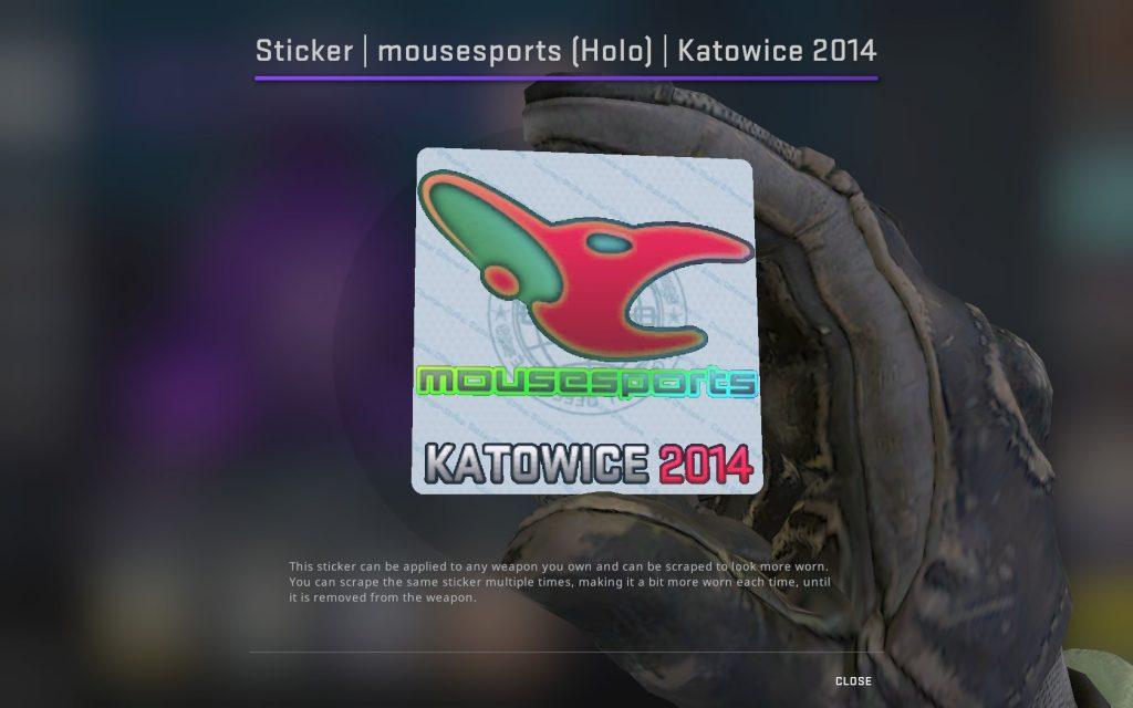 mousesports голографическая катовице 2014